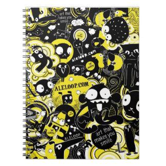 Cuaderno del arte del dibujo animado de la diversi