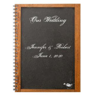 Cuaderno del boda del pájaro del amor de la
