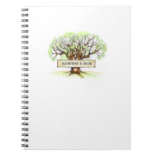 Cuaderno del boda - el árbol de amor