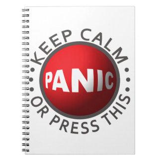 Cuaderno del botón de pánico