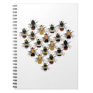 Cuaderno del corazón de la abeja