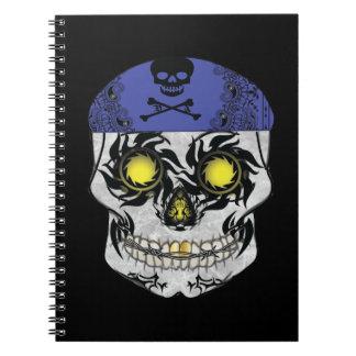 Cuaderno del cráneo del caramelo del motorista