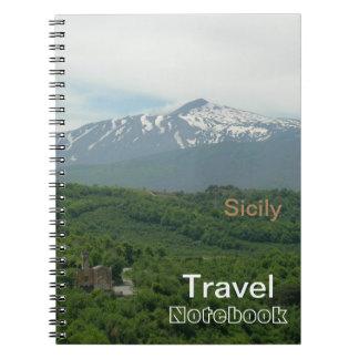 Cuaderno del destino del viaje de Sicilia