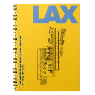 Cuaderno del diagrama del aeropuerto de Los
