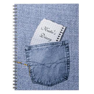 Cuaderno del diario de la libreta del bolsillo de