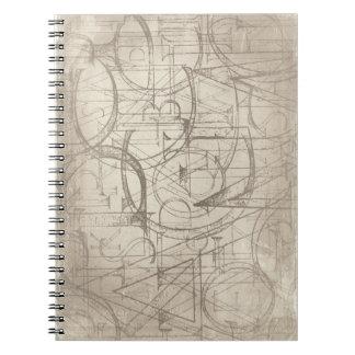 Cuaderno del diseño de la escritura