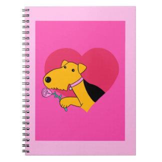Cuaderno del el día de San Valentín del perro de