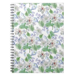 Cuaderno del estampado de plores de la acuarela