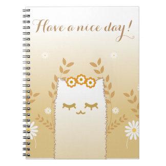 Cuaderno del gato de la flor