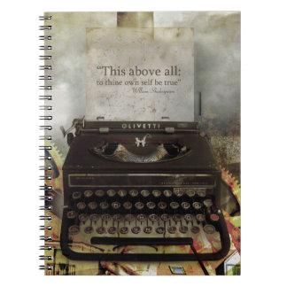 Cuaderno del Hardcover de la cita de Steampunk