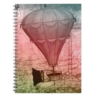 Cuaderno del Hardcover del bosquejo del globo de