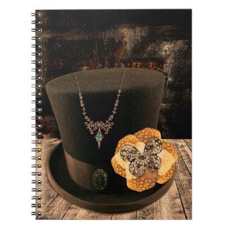 Cuaderno del Hardcover del sombrero de copa de