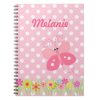 Cuaderno del jardín de la mariposa