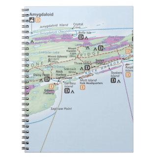 Cuaderno del mapa de Royale de la isla (Michigan)
