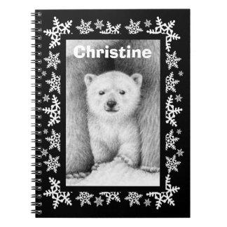 Cuaderno del navidad del copo de nieve de Cub del