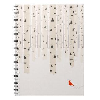 Cuaderno del paseo del invierno