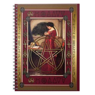 Cuaderno del pentáculo de Wicca