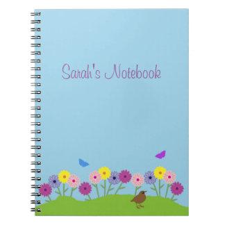 Cuaderno del personalizado de la flor del verano