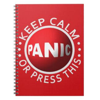 Cuaderno del personalizado del botón de pánico