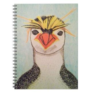 Cuaderno del pingüino de la tolva de roca