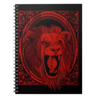 Cuaderno del rugido del león rojo