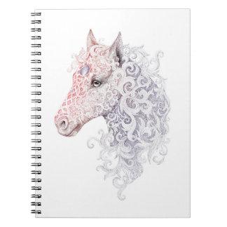 Cuaderno del tatuaje de la cabeza de caballo