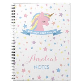 """Cuaderno del unicornio - """"haga que la magia sucede"""