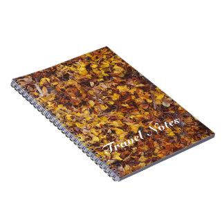 Cuaderno del viaje de la litera de la hoja
