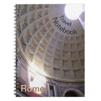 Cuaderno del viaje del destino de Roma del panteón