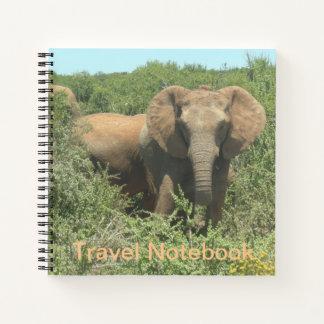 Cuaderno del viaje del elefante africano