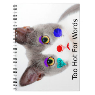 """Cuaderno """"Demasiado caliente para gato de las palabras"""" con"""