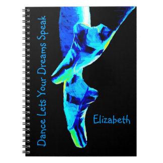 Cuaderno Deslizadores azules de Pointe del ballet