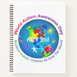 Cuaderno Día de la conciencia del autismo del mundo