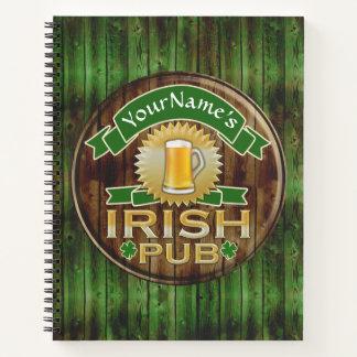 Cuaderno Día irlandés del St Patricks de la muestra del Pub