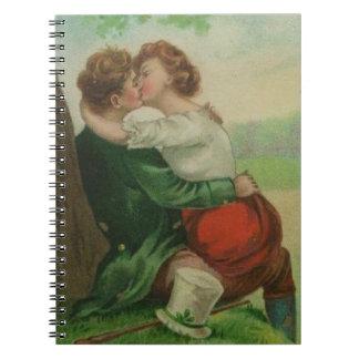 Cuaderno Día romántico de Irlanda St Patrick irlandés del