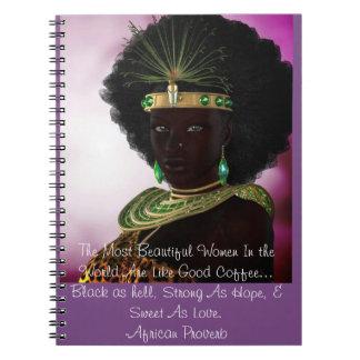 Cuaderno Diario africano hermoso del proverbio