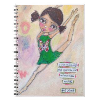 """Cuaderno """"Diario de la bailarina de Jeanette MacDonald"""""""