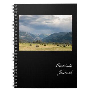 Cuaderno Diario de la gratitud de las balas de heno del