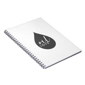 Cuaderno Diario del amor del aceite