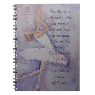 Cuaderno Diario del rezo con el bailarín y la poesía