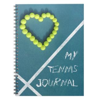 Cuaderno Diario del tenis personalizado