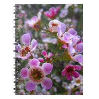 Cuaderno/diario personal - el manuka rosado florec cuaderno