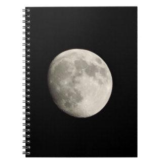 Cuaderno/diario personal - Luna Llena en SK oscura Libretas Espirales