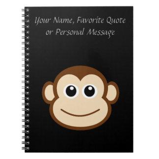 Cuaderno Dibujo animado de la cara del mono