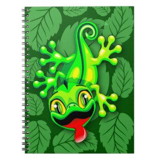 Cuaderno Dibujo animado del bebé del lagarto del Gecko