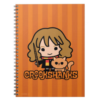 Cuaderno Dibujo animado Hermione y Crookshanks