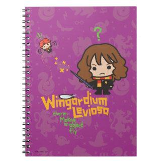 Cuaderno Dibujo animado Hermione y encanto de Ron