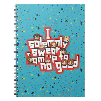 """Cuaderno Dibujo animado """"juro solemnemente"""" el gráfico"""