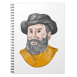 Cuaderno Dibujo del busto de Fernando de Magallanes