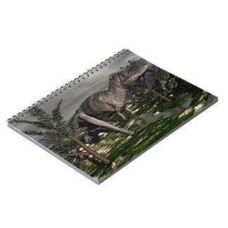 Cuaderno Dinosaurio del Ceratosaurus - 3D rinden